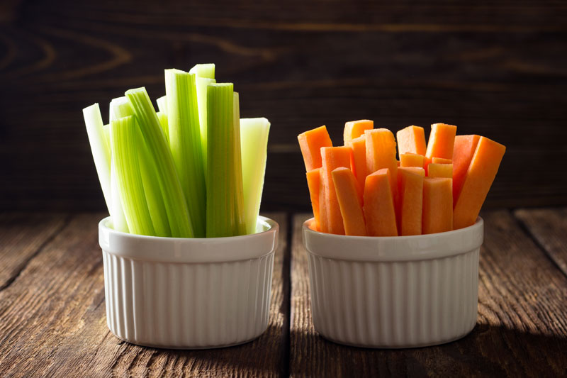 Carrot Sticks and Celery Sticks